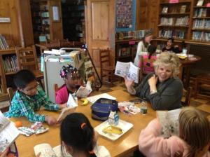 Reading at Hudson School pic